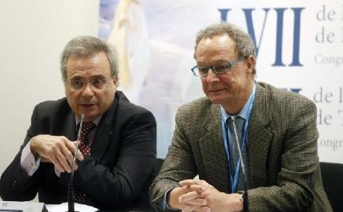 Rafael Matesanz (izqda.) junto a José María Moraleda.