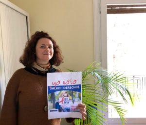 Nuria apoyando la campaña Salud y Derechos