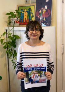 Teresa apoyando la campaña Salud y Derechos
