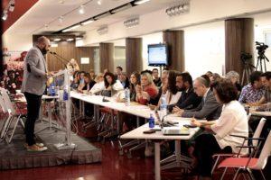 Toni Poveda durante el congreso XI de CESIDA