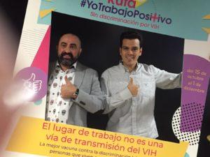 Toni y Alberto en la presentacion de la campaña de Trabajando en Positivo