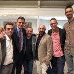 El presidente Pedro Sanchez con representandes de entidades VIH