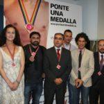 Presentación campaña HSH prevención para el Orgullo en el Ministerio de Sanidad con Pedro Zerolo y Carla Antonelli junto con Toni Poveda, director de CESIDA