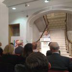 Ramon Espacio en la presentacion de la exposición Del SiDa NoDa al Siempre Preservativo. Tres décadas frente al VIH y el Sida